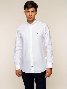 Tommy Hilfiger Tailored Tommy Hilfiger Tailored Πουκάμισο Dobby TT0TT05292 Λευκό Slim Fit