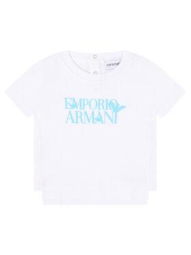 Emporio Armani Emporio Armani Marškinėliai 3HHT02 4J09Z 0100 Balta Regular Fit