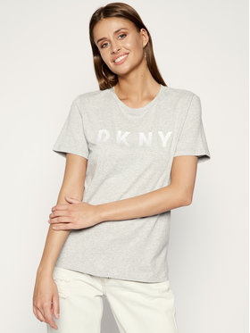 DKNY DKNY T-Shirt W3276CNA Šedá Regular Fit