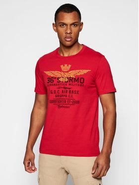 Aeronautica Militare Aeronautica Militare T-Shirt 211TS1867J492 Czerwony Regular Fit