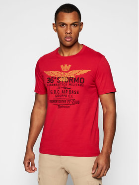 Aeronautica Militare Aeronautica Militare T-shirt 211TS1867J492 Rouge Regular Fit