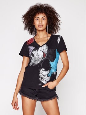 Desigual Desigual T-Shirt DISNEY Minnie 21SWTKCY Kolorowy Regular Fit