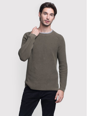 Vistula Vistula Sweter Mason Duo XA0784 Zielony Regular Fit