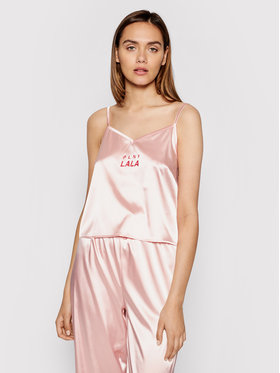 PLNY LALA PLNY LALA Koszulka piżamowa Susan PL-KO-A3-00003 Różowy