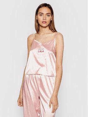 PLNY LALA PLNY LALA Pyjama-T-Shirt Susan PL-KO-A3-00003 Rosa