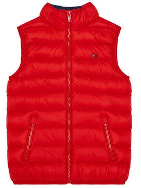 TOMMY HILFIGER TOMMY HILFIGER Vesta U Light Down KS0KS00127 Červená Regular Fit