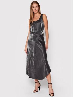 Calvin Klein Calvin Klein Sukienka koktajlowa K20K203404P9P Srebrny Regular Fit