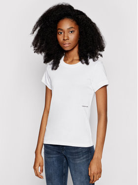 Calvin Klein Jeans Calvin Klein Jeans Póló J20J215702 Fehér Regular Fit