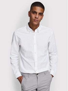 Jack&Jones Jack&Jones Marškiniai Summer 12163855 Balta Slim Fit