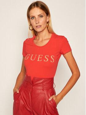 Guess Guess Marškinėliai Angelika W0YI0L J1300 Raudona Slim Fit