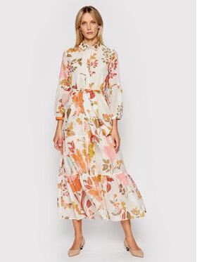 Marella Marella Košeľové šaty Cicala 32212012 Béžová Regular Fit