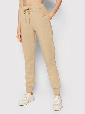 NA-KD NA-KD Spodnie dresowe Logo Basic 1044-000153-0226-003 Beżowy Regular Fit