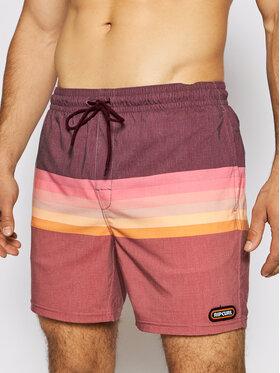 Rip Curl Rip Curl Plavecké šortky Layered Volley CBONM4 Bordová Regular Fit