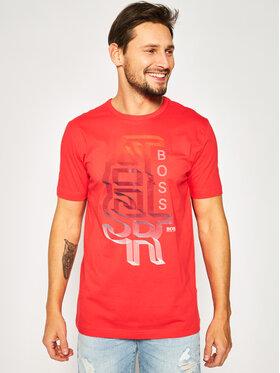 Boss Boss T-shirt Tee 3 50423998 Rouge Regular Fit