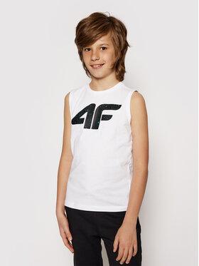4F 4F Marškinėliai JTSM011A Balta Regular Fit