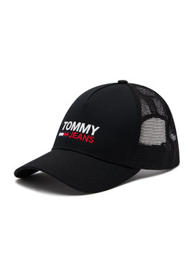 Tommy Jeans Tommy Jeans Шапка с козирка Tjm Flag Trucker AM0AM07172 Черен