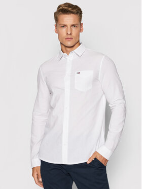 Tommy Jeans Tommy Jeans Риза Tjm Solid Seersucker DM0DM10638 Бял Regular Fit