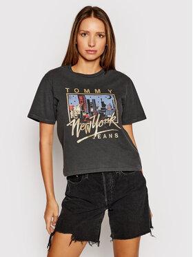 Tommy Jeans Tommy Jeans T-Shirt Ny Vintage DW0DW09823 Šedá Regular Fit