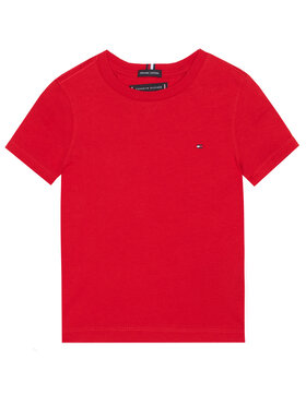 TOMMY HILFIGER TOMMY HILFIGER T-Shirt Essential KB0KB06130 M Czerwony Regular Fit