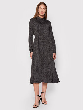 Calvin Klein Calvin Klein Sukienka koszulowa K20K2032250GL Czarny Regular Fit