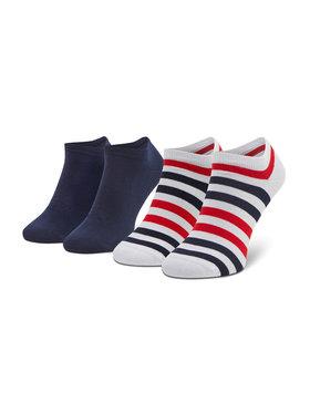 Tommy Hilfiger Tommy Hilfiger Set di 2 paia di calzini corti da uomo 382000001 Multicolore