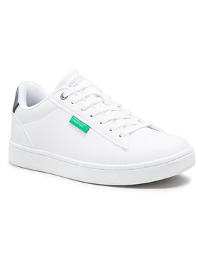 United Colors Of Benetton United Colors Of Benetton Sneakersy Label BTMCO4016 Bílá