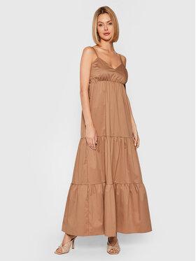 Rinascimento Rinascimento Sukienka letnia CFC0017921002 Brązowy Relaxed Fit