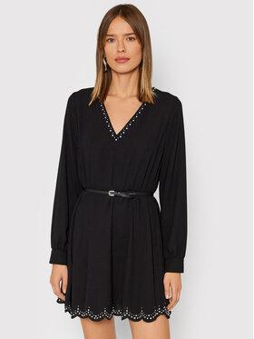 Liu Jo Liu Jo Koktejlové šaty WF1209 T5708 Čierna Regular Fit