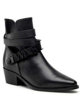TwinSet TwinSet Členková obuv 202TCP03C Čierna