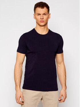 Trussardi Trussardi T-Shirt Stretch 52T00499 Granatowy Slim Fit