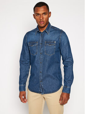 Pepe Jeans Pepe Jeans Košile Hamond Dark PM306757 Modrá Regular Fit