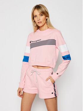 Champion Champion Bluză Graphic Stripe And Colour Block 112761 Roz Custom Fit