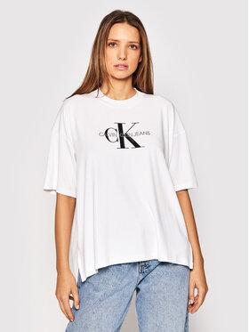 Calvin Klein Jeans Calvin Klein Jeans Tričko J20J216248 Biela Boyfriend Fit