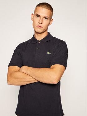Lacoste Lacoste Тениска с яка и копчета L1212 Тъмносин Classic Fit