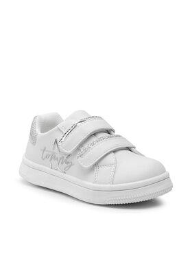 Tommy Hilfiger Tommy Hilfiger Sneakersy Low Cut Velcro Sneaker T1A4-31155-1220X025 Biały