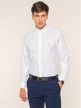 Tommy Hilfiger Tailored Tommy Hilfiger Tailored Košile Dobby TT0TT05292 Bílá Slim Fit