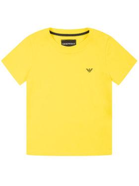 Emporio Armani Emporio Armani T-Shirt 8N4TJC 4JFEZ 0254 Żółty Regular Fit