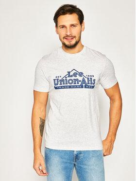 Lee Lee T-Shirt Heritage Tee L63QFQ03 Grau Regular Fit