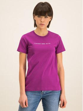 Diesel Diesel T-Shirt Sily-Copy 00SBGH 0HERA Fioletowy Slim Fit