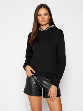 KARL LAGERFELD KARL LAGERFELD Sweatshirt Graffiti Logo 206W1804 Noir Regular Fit