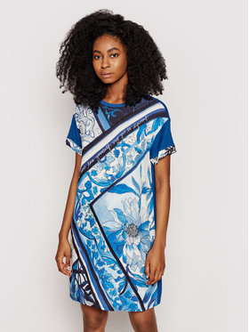 Desigual Desigual Sukienka codzienna Solimar 21SWVK29 Niebieski Regular Fit