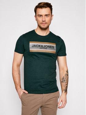 Jack&Jones Jack&Jones T-Shirt Booster 12188601 Zelená Slim Fit