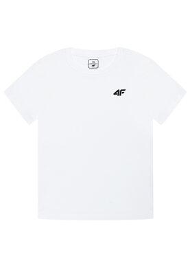 4F 4F T-Shirt HJL21-JTSM001A Bílá Regular Fit