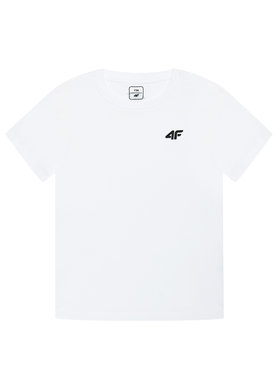4F 4F T-Shirt JTSM001A Biały Regular Fit