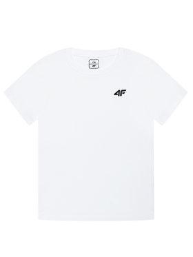 4F 4F T-Shirt JTSM001A Bílá Regular Fit