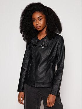 Desigual Desigual Veste en cuir Oslo 21SWEW73 Noir Regular Fit