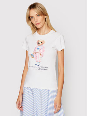 Polo Ralph Lauren Polo Ralph Lauren T-Shirt Ssl 211838100001 Biały Slim Fit