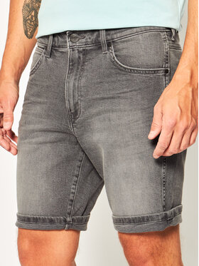 Wrangler Wrangler Pantaloni scurți de blugi 5 Pocket W14CU311R Gri Slim Fit