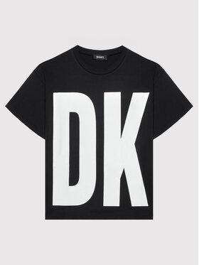 DKNY DKNY Tričko D35R61 M Čierna Regular Fit