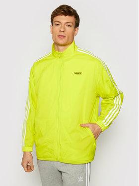 adidas adidas Kurtka przejściowa Reverse Track GN3818 Żółty Regular Fit